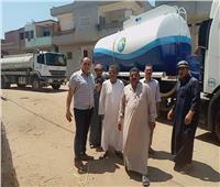 سيارات مياه بقرية بني حسن بالشرقية لمواجهة الانقطاع