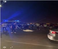 مصرع شخص وإصابة آخر في حادث سيارة بالشيخ زايد  صور