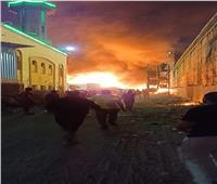 السيطرة على حريق هائل بالقرب من الدائري في الجيزة