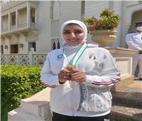 جيانا فاروق بعد التكريم: «شكرا فخامة الرئيس»