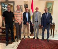 محمد بركات يشكر سفير مصر في الكاميرون