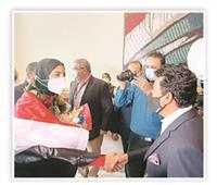 فريال أشرف: «لعبت كاراتيه بالصدفة.. وتكريم الرئيس حاجة كبيرة قوي»| حوار