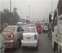 شلل مروري يضرب ميدان المؤسسة بشبرا الخيمة بالقليوبية