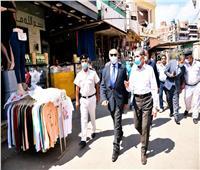 محافظ الغربية ومدير الأمن يتفقدان المواقف والأسواق بطنطا