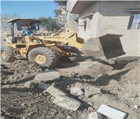 إزالة تعدٍ على مساحة ٧٠ مترًا على الأراضي الزراعية بقرية في المحلة