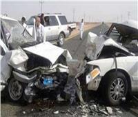 حوادث المنيا في أسبوع|مصرع وإصابة 4 في حادث تفحم سيارة بالطريق الصحراوي الشرقي
