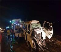 إصابة 4 أشخاص في حادث تصادم بالطريق الأوسطي بالضبعة