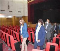 وزيرة الثقافة ومحافظ دمياط تدشنان مشروع تطوير «قصر ثقافة» المحافظة  صور