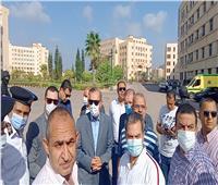 محافظ كفر الشيخ ونائبه يتفقدان أثار حريق بمدرج كلية الثروة السمكية  صور