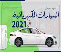 إنفوجراف| نمو سوق السيارات الكهربائية في 2021