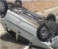 مصرع وإصابة 7 أشخاص في انقلاب سيارة بصحراوي قنا