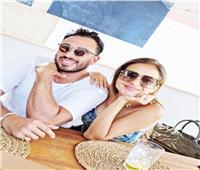 نيللى كريم لا تزال تعيش أجواء الفرح مع زوجها هشام عاشور