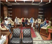 رئيس جامعة الأقصر يبحث سبل التعاون المشترك مع المجلس القومي للمرأة
