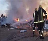 السيطرة على حريق شب داخل مخلفات بمنطقة القطامية
