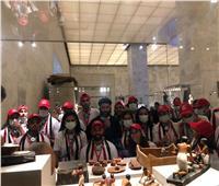 شباب وفتيات ملتقى لوجوس للشباب 2021 يزورون المتحف القومي للحضارة