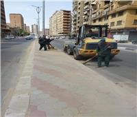 تطوير شوارع حي العمرانية بالجيزة