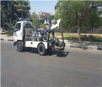 «أوناش المرور» ترفع 55 سيارة ودراجة نارية متهالكة
