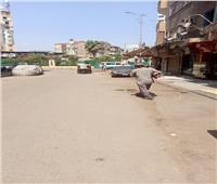 حملة لرفع الإشغالات بحي الساحل
