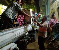 رفع ٢١٠ حالات إشغال بأوسيم ومنشاة القناطر وجنوب الجيزة | صور