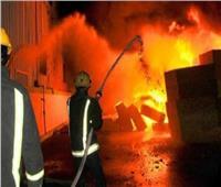 إخماد حريق داخل المنطقة الصناعية بالبدرشين