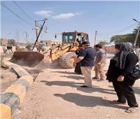 بعد 30 عامًا.. إزالة تعدٍ بمدخل قرية بالشرقية