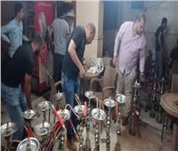 ضبط ومصادرة 150 شيشة خلال حملة بأسيوط