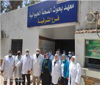 فريق منمعهد بحوث الصحة الحيوانيةيزورالمعمل البيطرى بمحافظة الشرقية