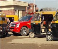 رئيس مدينة كفر شكر يقود حملة لضبط مركبات «التوك توك»المخالفة