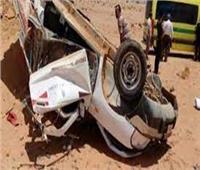 مصرع وإصابة 4 أشخاص في حادث بالطريق الصحراوي بالمنيا