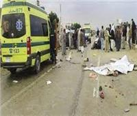 حادث مروع بين سيارة ميكروباص ونقل بشبين القناطر بالقليوبية
