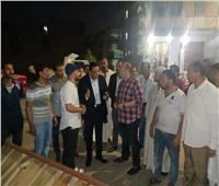 جولة ليلية لنائب محافظ الجيزة لمدينة العياط| صور