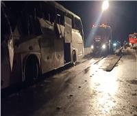 خروج 16 مصابا في حادث تصادم أتوبيس طريق السويس من المستشفى
