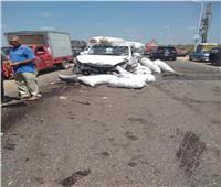 تصادم سيارتين نقل وملاكي بطنطا يسفر عن إصابات