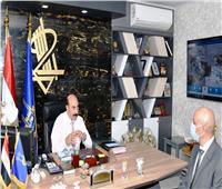 محافظ أسوان يستقبل رئيس شركة مياه الشرب والصرف الصحي الجديد