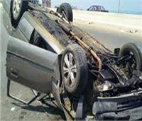 إصابة 3 أشخاص فى انقلاب سيارة بطريق أبو سمبل في أسوان