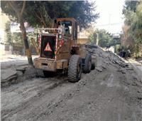 متابعة لأعمال رصف وتطوير شوارع مدينة الحوامدية