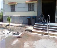 مياه الصرف تحاصر مركز فريد عطية للغسيل الكلويبدمنهور