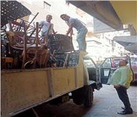 حملات لإزالة الإشغالات وتعديات الطريق العام بأحياء الجيزة | صور