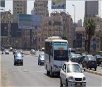 الحالة المرورية  سيولة حركة السيارات بالدائري ووسط البلد والمحور