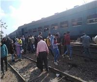 خروج 4 عربات من قطار بالشرقية عن القضبان