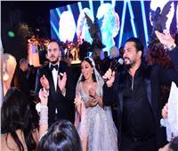 رامي عياش ومصطفى حجاج في زفاف كريم كوهية و لينا فارس
