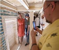 بالصور| السياح يزورون المقبرة الجنوبية للملك زوسر بسقارة