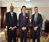 حسين زين يلتقى المدير العاملاتحاد إذاعات الدول الإسلامية