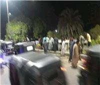 مصرع وإصابة 3 أشخاص في انقلاب «تروسيكل» في كوم إمبو