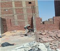 حملة إشغالات وإزالة بناء مخالفببولاق الدكرور بالجيزة   صور