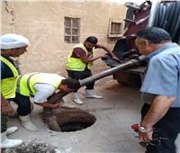 تجديد شبكات الإنارة وتطهير الصرف الصحي في الجيزة | صور