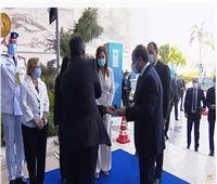 وصول الرئيس السيسي للعاصمة الإدارية لإطلاق تقرير التنمية البشرية