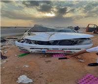 إصابة 7 في حادث انقلاب سيارة بطريق «السويس_ القاهرة»