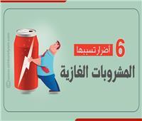 إنفوجراف| 6 أضرار تسببها المشروبات الغازية