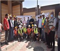 محافظ أسيوط يتفقد مشروع محطة رفع صرف صحي بنزلة باخوم